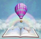 Book in the sky. Illustration vector illustration