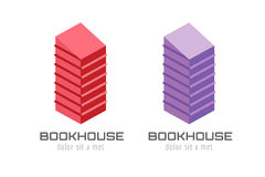 Book skyscraper template logo icon. Back to school Royalty Free Stock Photos