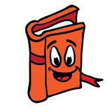 Book smiling Stock Image