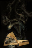 Book with smoke royalty free stock images