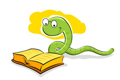 Book with snake Royalty Free Stock Photos