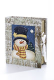 Book with snowman picture Royalty Free Stock Image