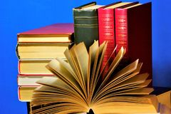 The book is a source of important knowledge, literary, scientific work, printed materials, consists of sheets on which printed or. Handwritten collection of royalty free stock photo