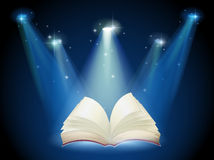 A book with spotlights Stock Images