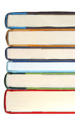 Book stack. Stack of six books isolated on white Stock Photos