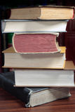 Book-stack. Stack of thick books on the table Stock Images