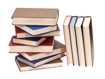 Book stack. Isolated on white. With clipping path Royalty Free Stock Photo