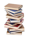Book stack. Isolated on white. With clipping path Stock Images