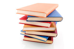Book stack. Isolated on white background stock image
