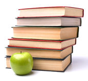 Book stack with apple Royalty Free Stock Images