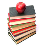 Book stack with apple Stock Images