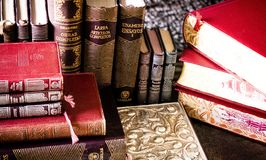 Book, Stack, Bookcase Royalty Free Stock Photos