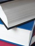 Book stack, close up Stock Photos