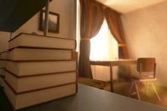 Book stack closeup Royalty Free Stock Photo