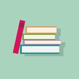 Book stack flat icons design vector Royalty Free Stock Photos