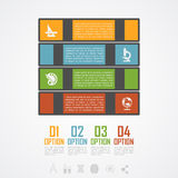 Book stack infographic Royalty Free Stock Images
