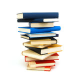 Book stack isolated Stock Photos