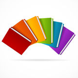 Book Stack Rainbow. Vector Royalty Free Stock Images