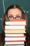 Book stack. Stock Photo