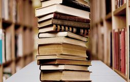 Book Stack Stock Photo