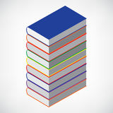 Book Stack Tower Stock Image