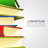 Book stack on white background Stock Photo