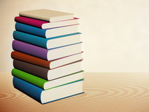 Book stacked Royalty Free Stock Photo