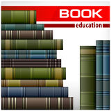 Book stacks on white Royalty Free Stock Photo