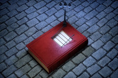 Book with stairs inside concept. 3D rendering Stock Image
