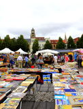 Book stand flea market Bruges Belgium Royalty Free Stock Photography