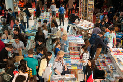 Book stands and crowd Royalty Free Stock Photography