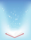 Book and stars Royalty Free Stock Images