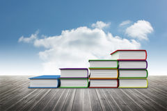 Book steps. Against blue sky Royalty Free Stock Images