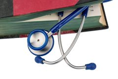 Book and stethoscope Royalty Free Stock Photos