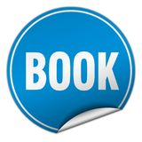 Book sticker. Book round sticker isolated on wite background. book Royalty Free Stock Images