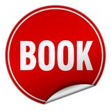 Book sticker. Book round sticker isolated on wite background. book Stock Photography