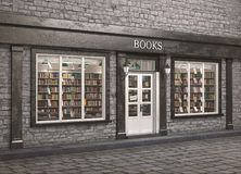 Book store exterior, 3d illustration Stock Images
