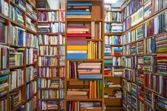 Book store. Picture of a book store room filled of books Royalty Free Stock Photography
