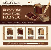 Book Store template. For website, vintage style Stock Photos