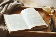Book and sweater Royalty Free Stock Photo