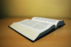 Book on the table. Photo of opened book on the table Royalty Free Stock Image