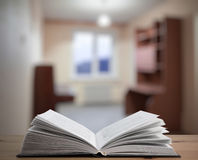 Book table in the room Royalty Free Stock Photos