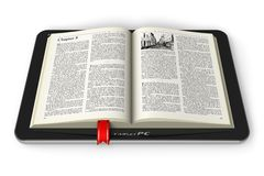 Book in tablet computer Royalty Free Stock Photography