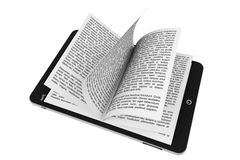 Book from Tablet PC Stock Photos