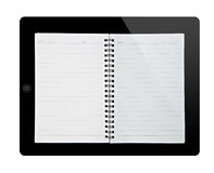 Book in tablet pc Royalty Free Stock Photography