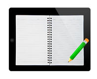 Book in tablet pc Royalty Free Stock Image