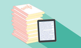 Book or tablet. School screen stack Royalty Free Stock Image
