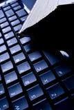 book tangentbordet Arkivfoto