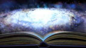 The book tells about the Galaxy. 26. The book tells about the Galaxy 26 stock video footage