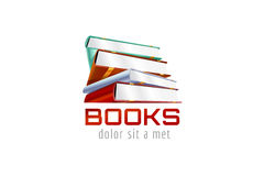 Book template logo icon. Back to school. Education Royalty Free Stock Image